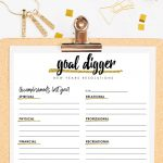 New Year resolutions worksheet