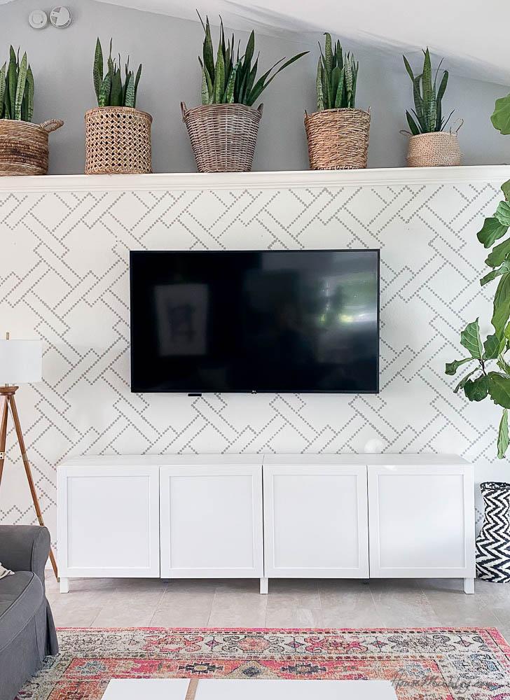 DIY tv art frame - before