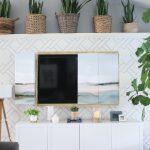 DIY hidden TV art frame