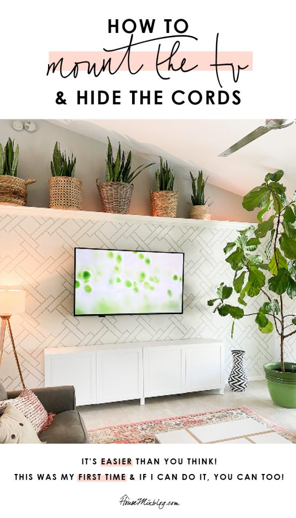 How to mount the tv to the wall and hide the cords