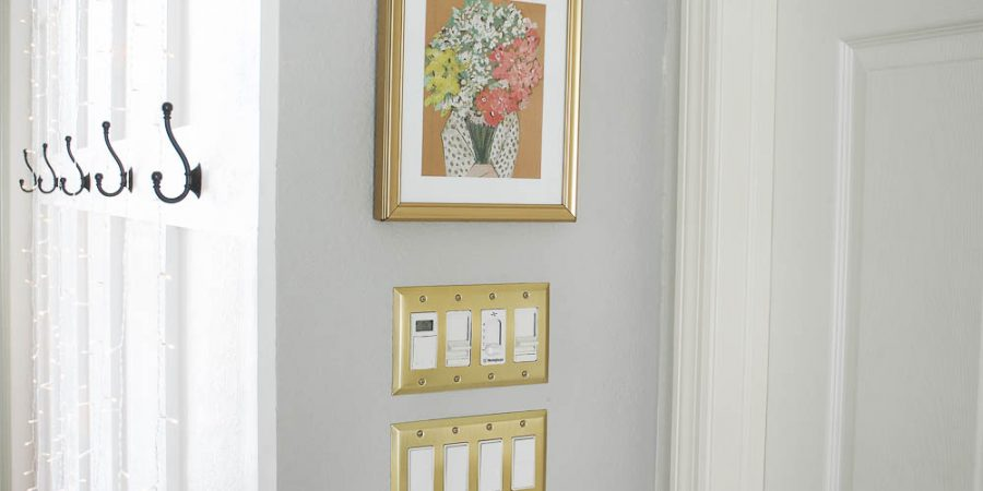 Bronze gold wall plates for switches and rockers