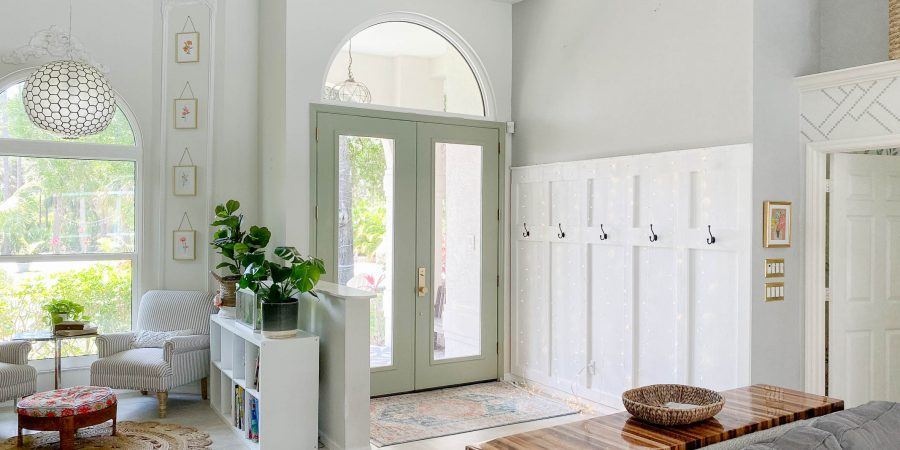 How to paint doors + My favorite sage green paint!