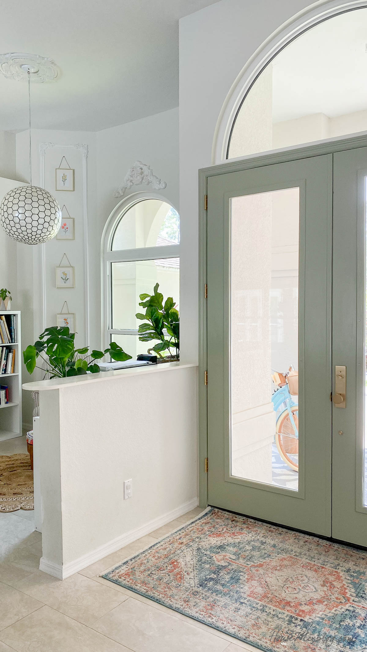 How to paint doors + My favorite sage green paint