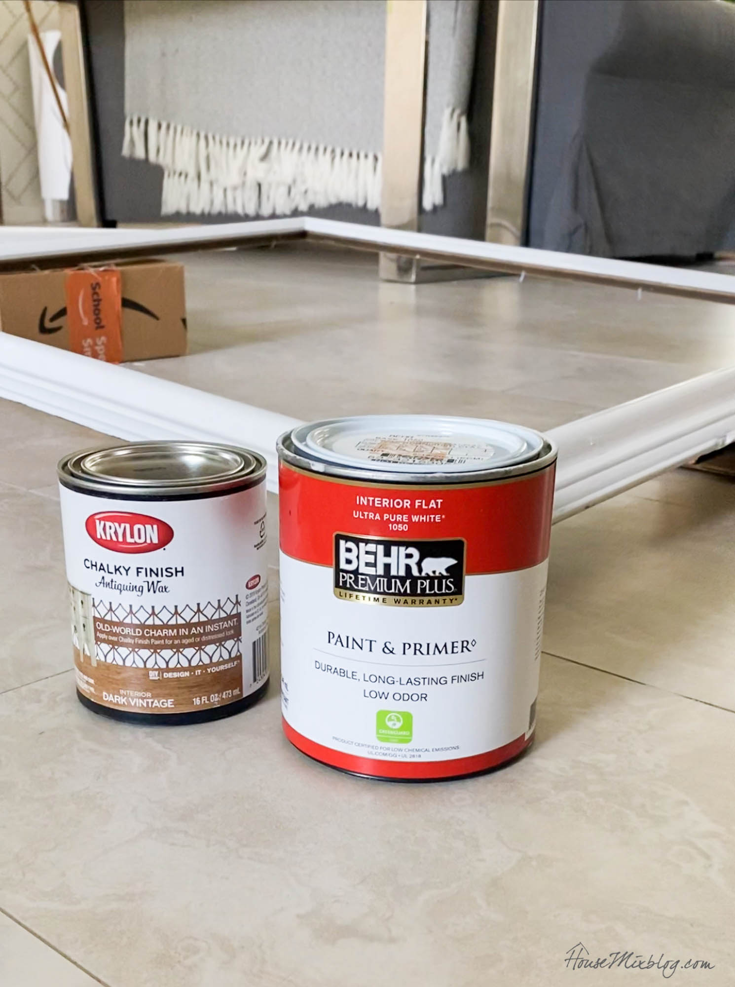 2 step faux wood painting