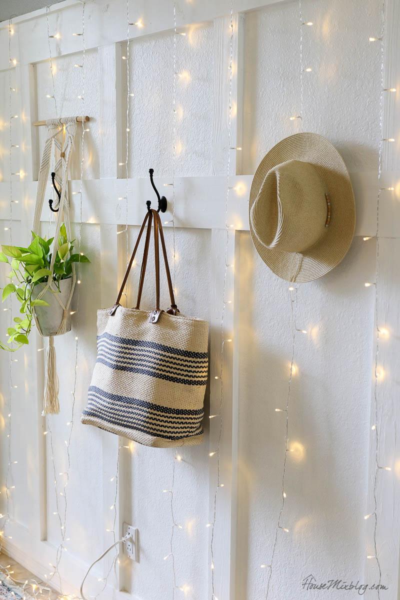 8 cozy lighting ideas - curtain of twinkle lights