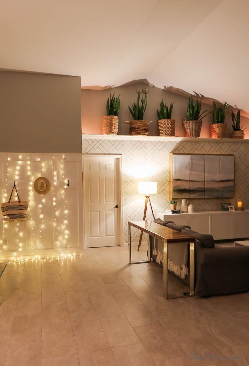 8 cozy lighting ideas -  ledges