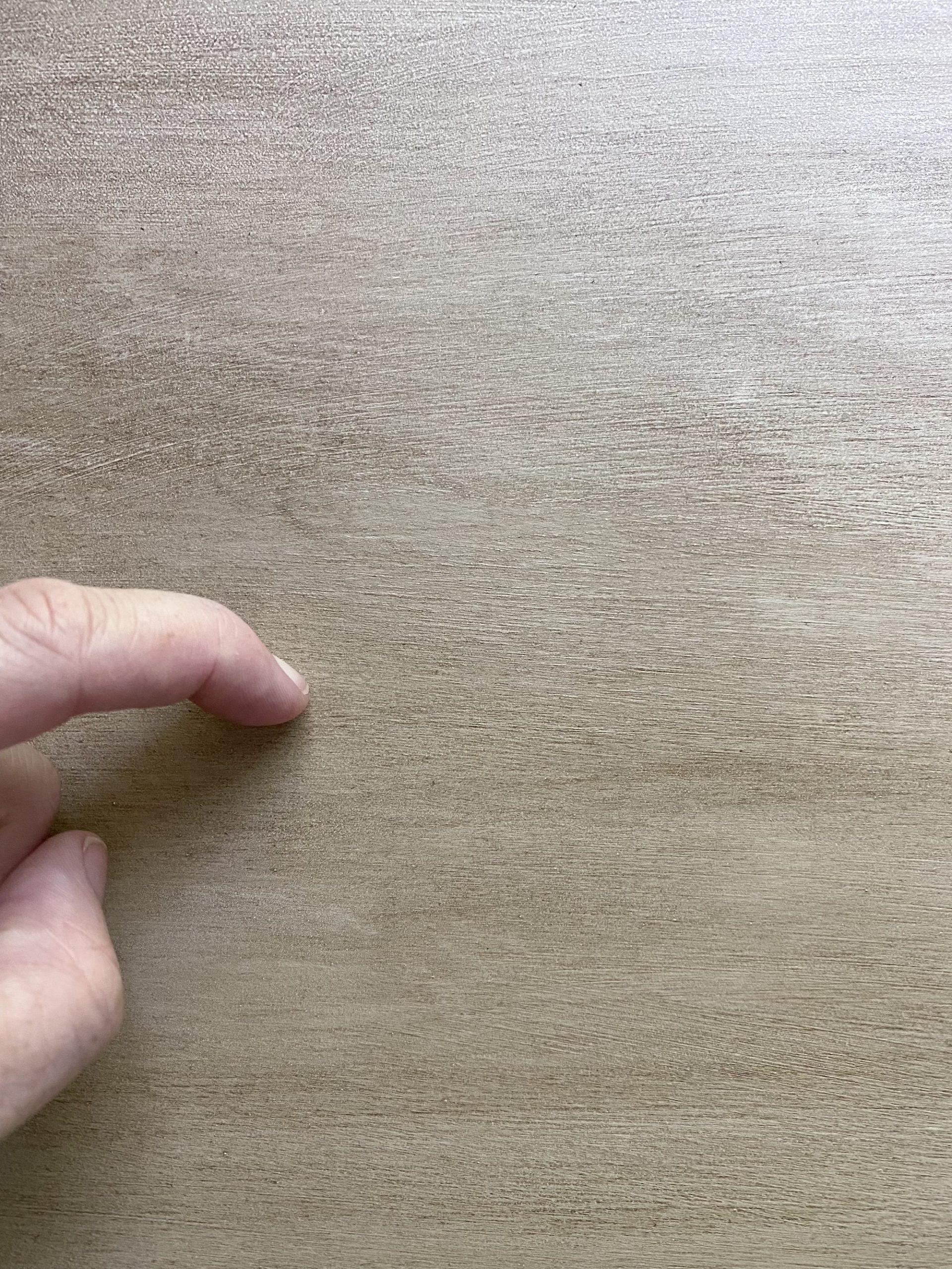 faux wood painting technique - scratch test